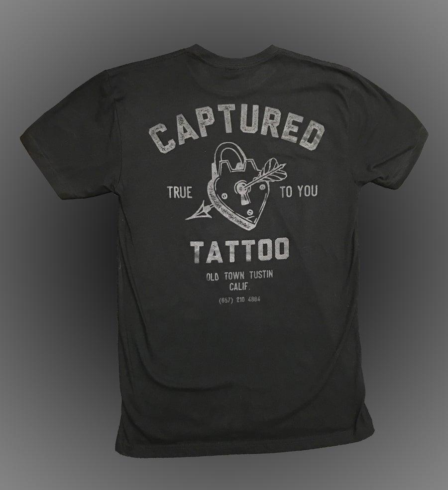 Image of *NEW* Black on Black Captured Tattoo Studio T-Shirt