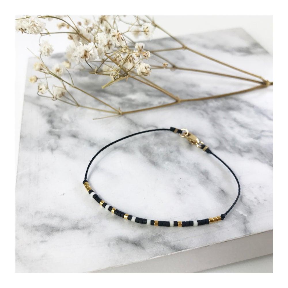 Image of Bracelet code morse •LOUISETTE• plaqué or