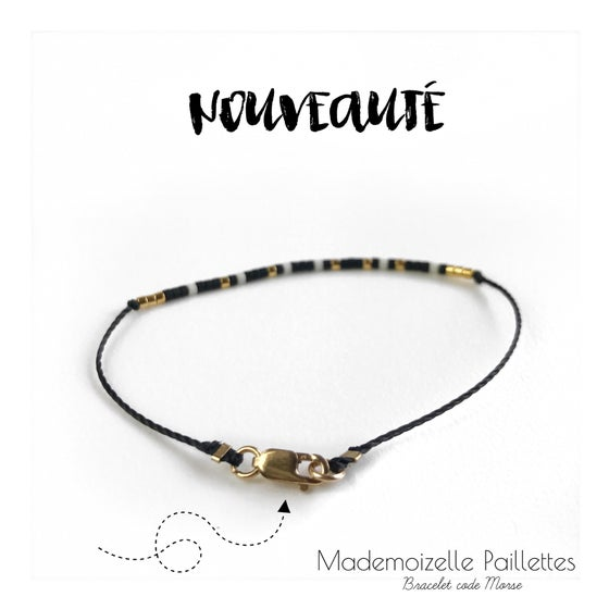 Image of Bracelet code morse •LOUISETTE• plaqué or