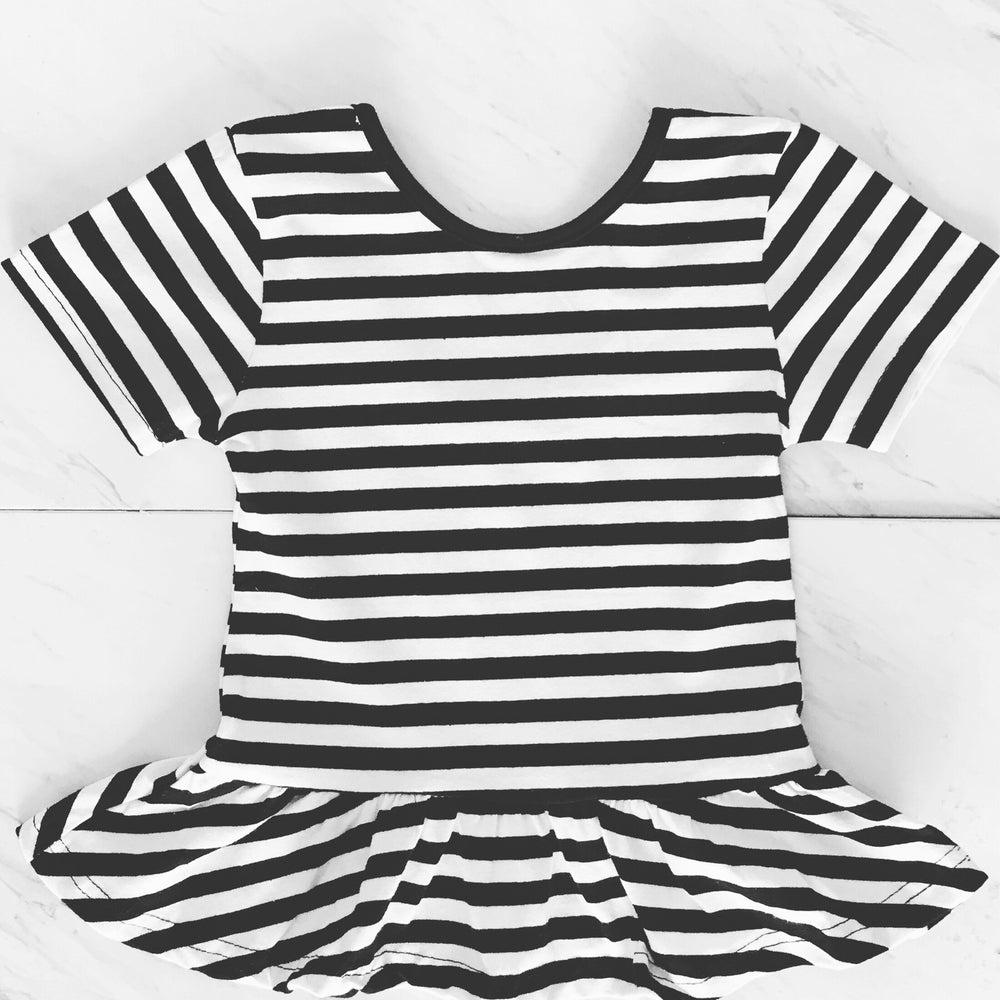 Image of Black & White Peplum