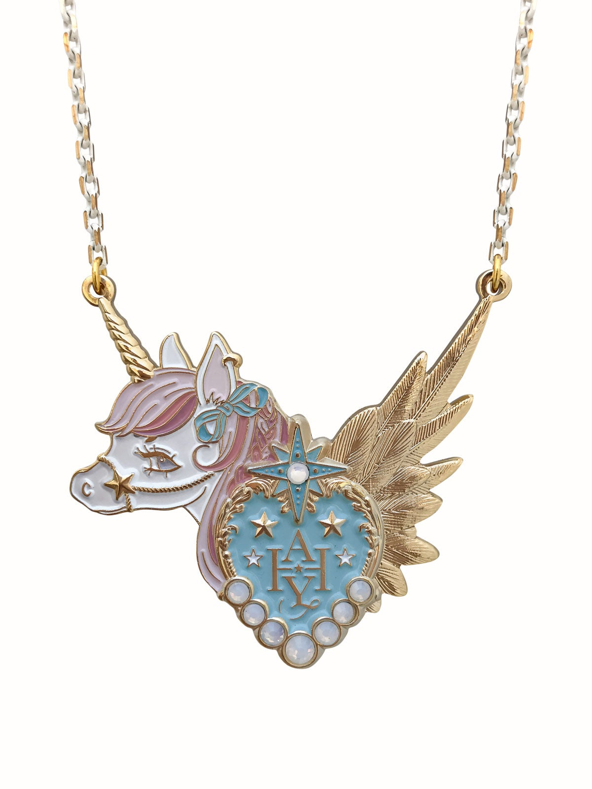 Image of Dreamy Unicorn Necklace · Pink