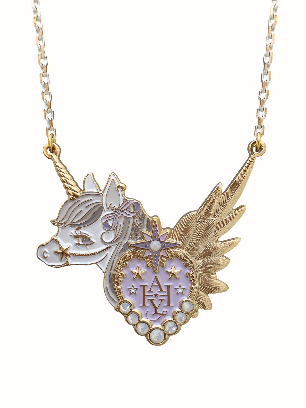 Image of Dreamy Unicorn Necklace · Gray