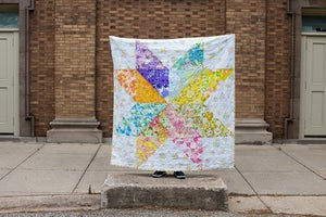 Image of Giant Vintage Star Quilt PAPER Pattern