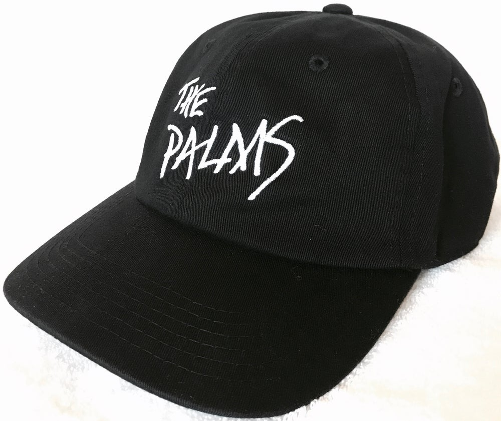 Image of The Palms Logo Embroidered Black Strapback Hat