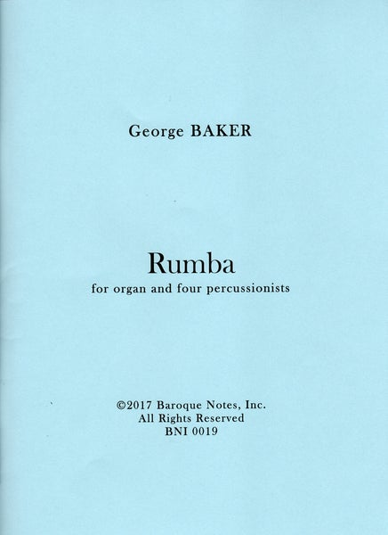 Image of Rumba for organ and four percussionists