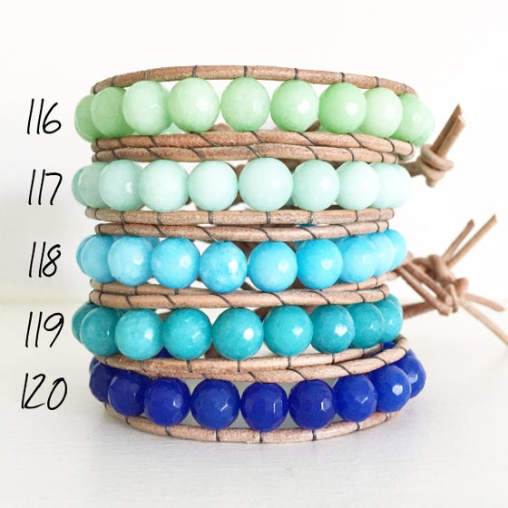 Image of Leather Gem Bracelets
