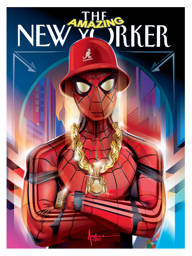 Image of AMAZING NEW YORKER- SPIDER MAN_ HIPHOP- 18x24 - Editon 25