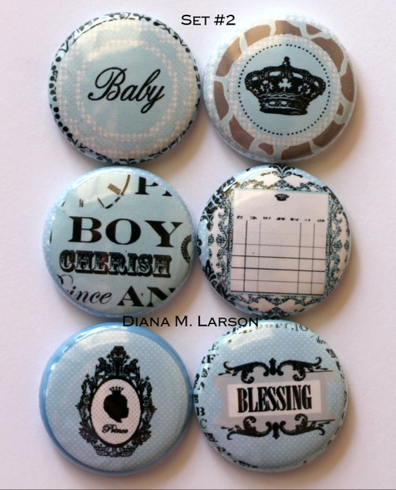 """Image of Baby Flair buttons 1"""""""