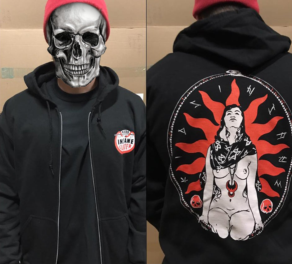 Image of 'Ritual' Black Zip Up Hoodie