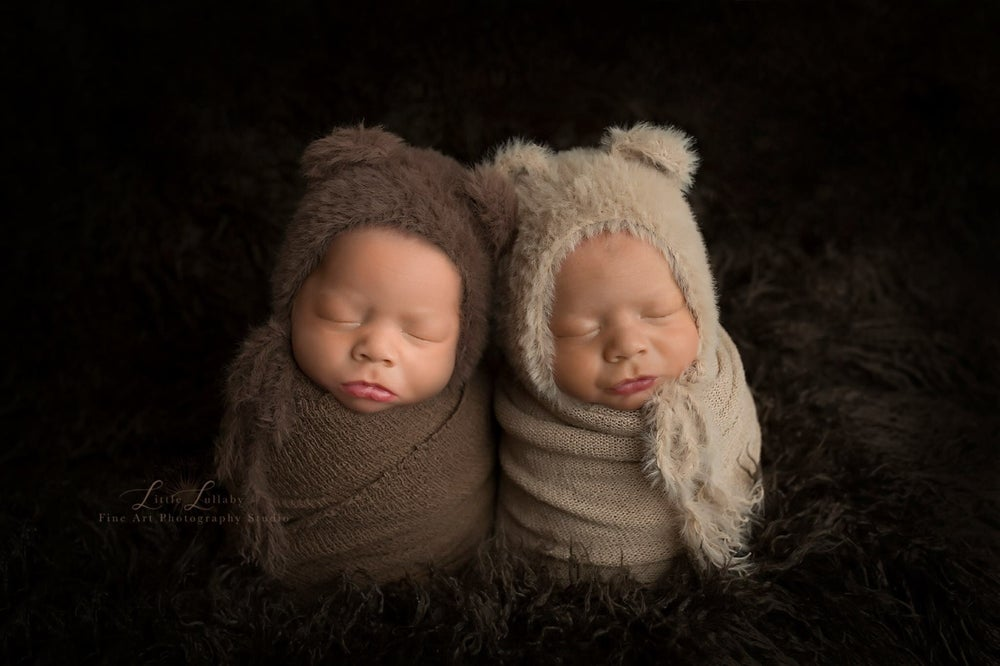 Image of Furry Little Knitted Brown Bear