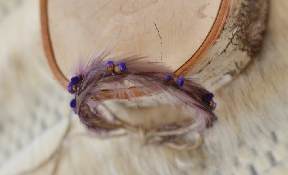 Image of Feathers and flowers (amethyst/ purple)