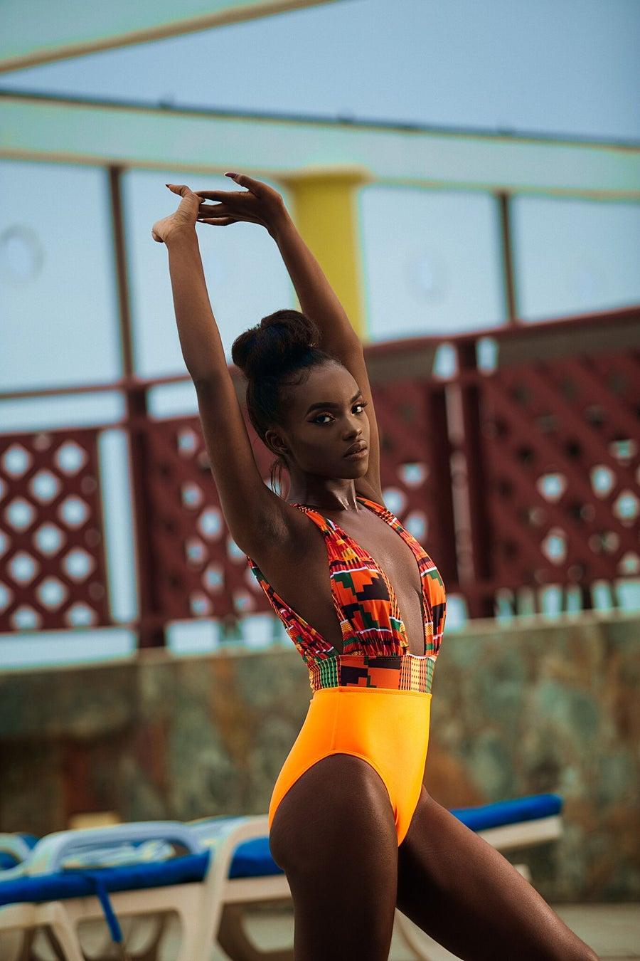 Image of Pre-Order Kukua full piece kente swimsuit