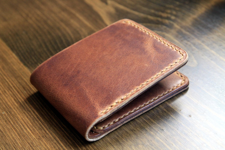 Image of Traditional Wallet in Horween Natural Dublin