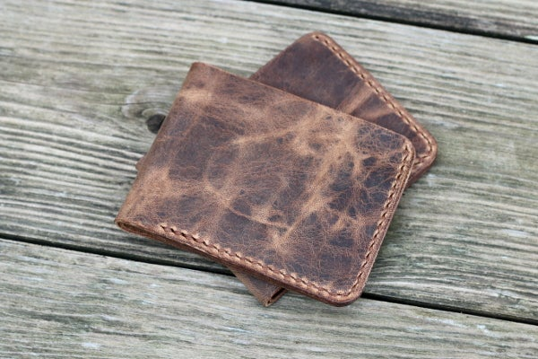 Image of Traditional Bifold Wallet in Horween Vintage
