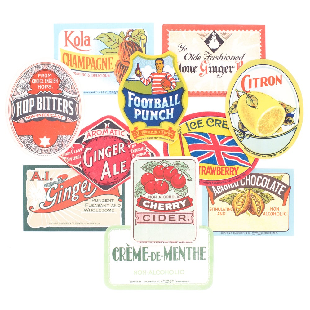 Image of Antique Beverage Labels - Set No. 2