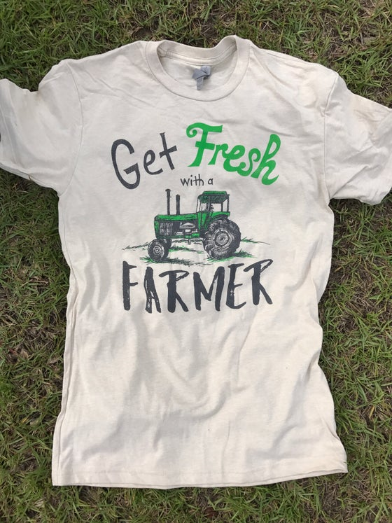 "Image of Adult ""Get Fresh with a Farmer"" Crew Neck Tee"