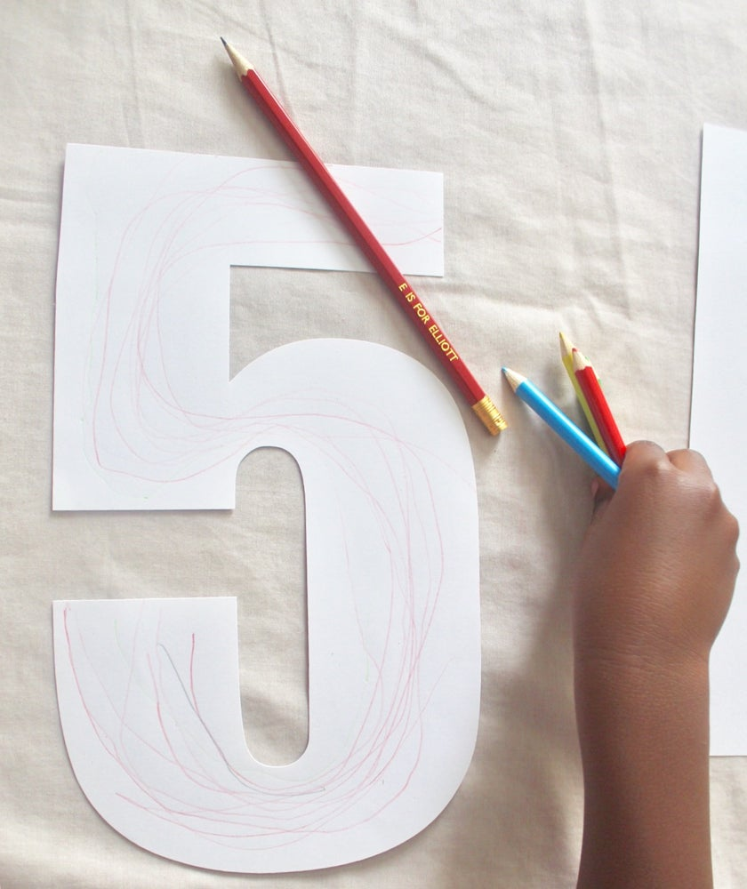 Image of Initial and number colouring sheets