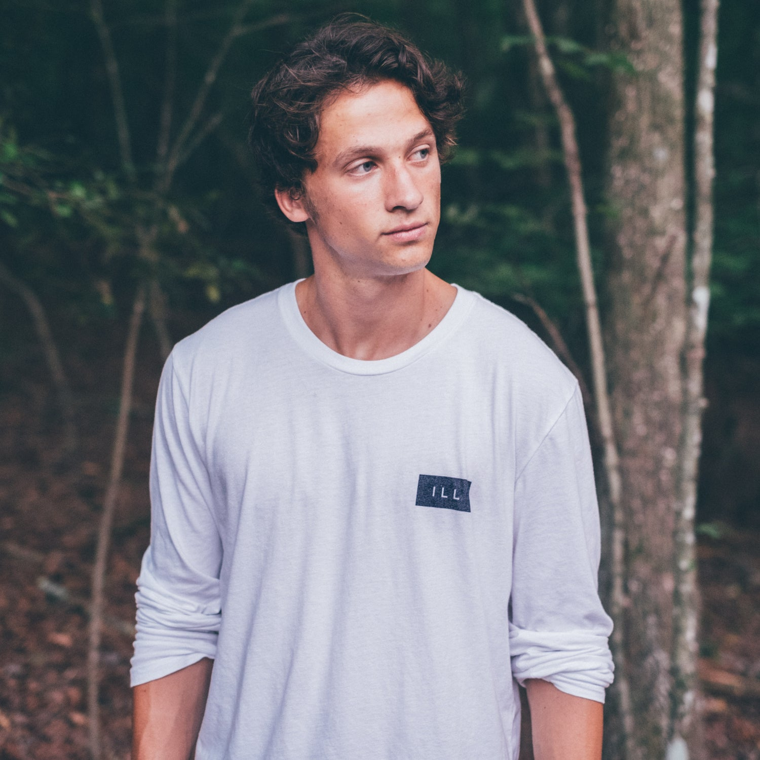 Image of Ill Concept White Long-Sleeve Tee