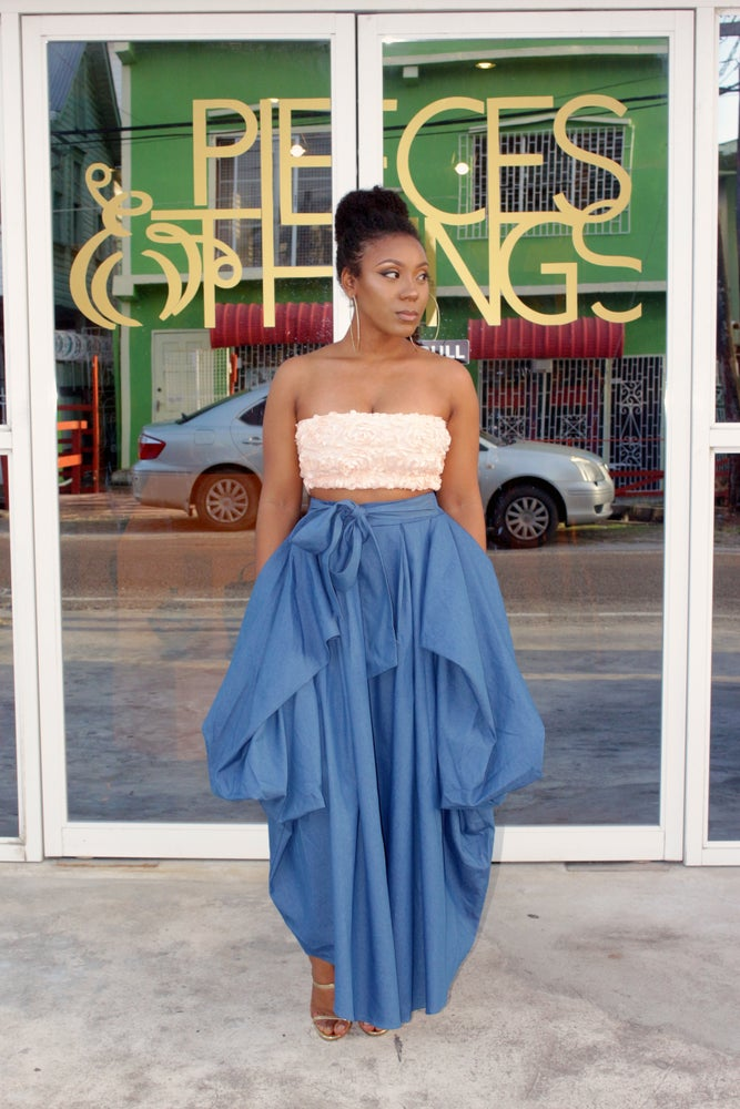 Image of Yemaya Denim Skirt
