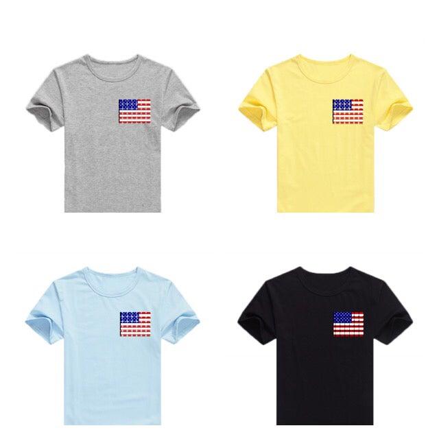 Image of Shadow Co. American Flag T-Shirt