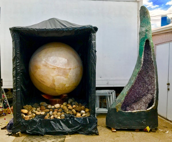 Image of 12,000 LBS Quartz Sphere   Largest Natural Crystal Ball in the World RAW Quartz Orb from Brazil