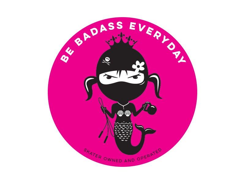 Image of Hula Dumbells and Wake Up Kickass Repeat Sticker