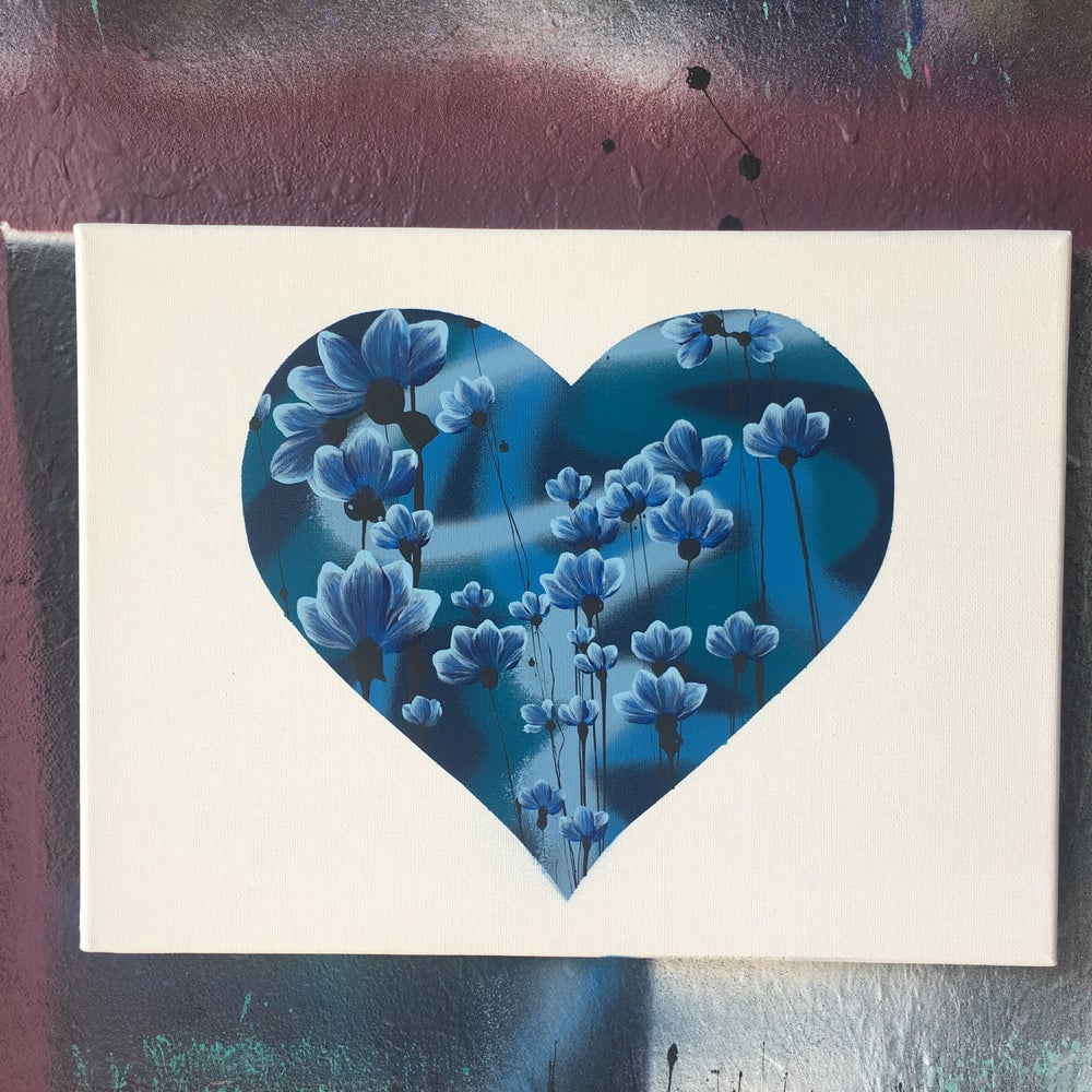 Image of Love Blossoms in blue