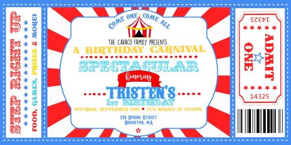 Image of Carnival Birthday Invitation