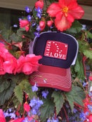 Image of Alaska Love Trucker Hat- Tri-Navy