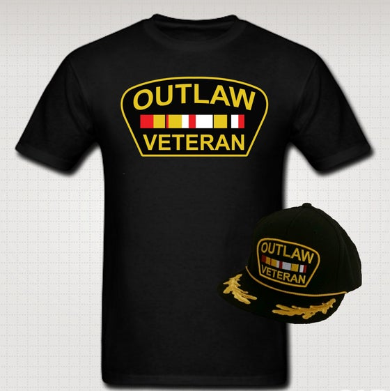 Image of Outlaw Veteran Tshirt & Hat Set