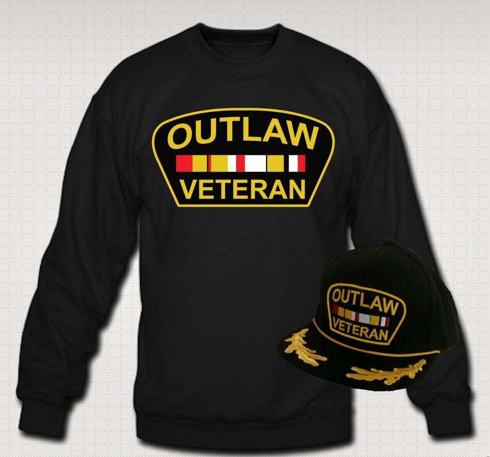 Image of Outlaw Veteran Crewneck & Hat Set