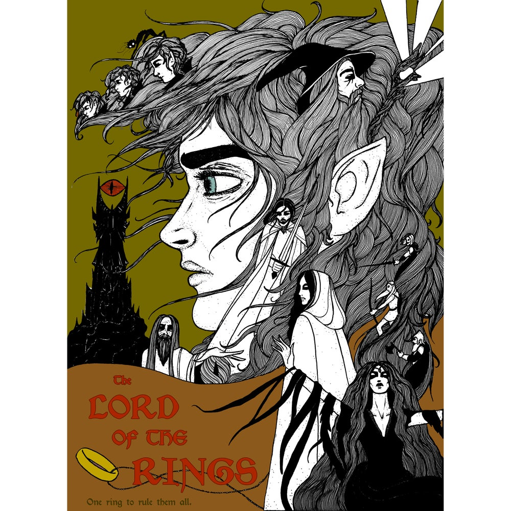 """Image of """"The Lord of the Rings"""" Fan Art Giclée Poster"""