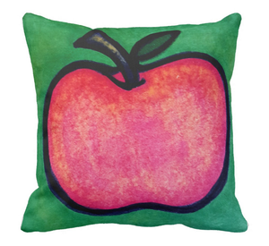 Image of Red Apple Square Pillow