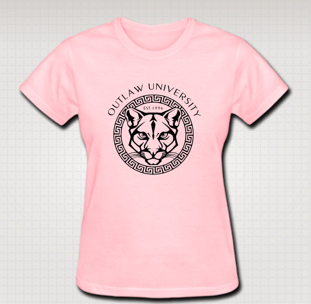 Image of OU Panther Female Baby Tee- Comes in Black, White,Pink,Purple,Red- CLICK HERE TO SEE ALL COLORS