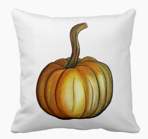 Image of Long Stem Gourd Square Pillow