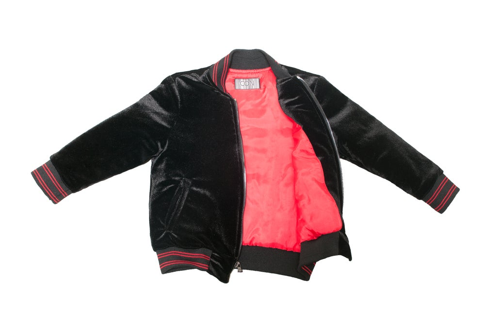 Image of Little Infrared velvet jacket
