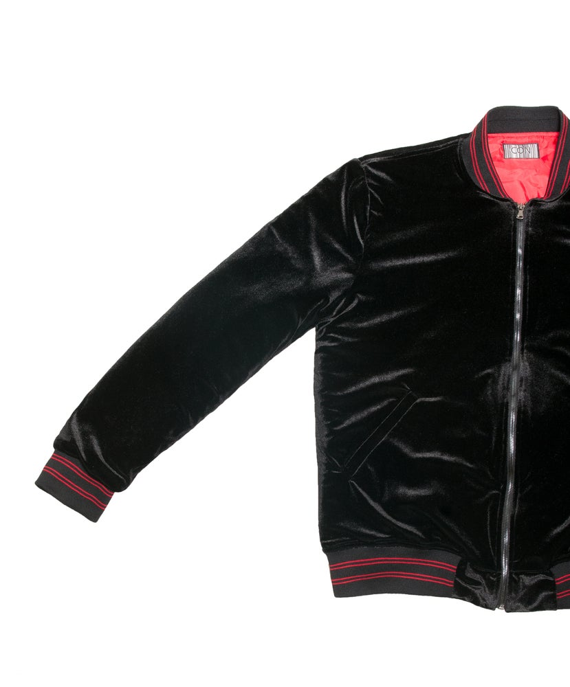 Image of Infrared velvet jacket