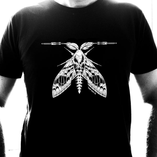 "Image of Shirt ""White Moth"" Designed by Marald van Haasteren"