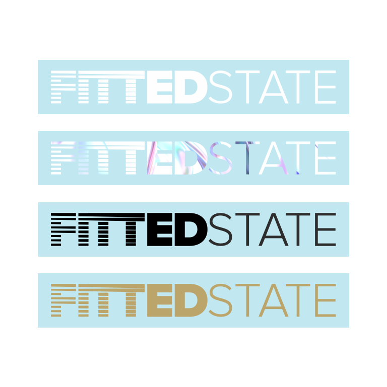 Image of Fitted State Windscreen Sticker