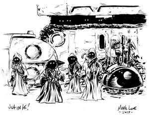Image of jawas with iron giant