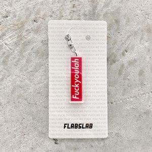 Image of Fuckyoulah acrylic keychain
