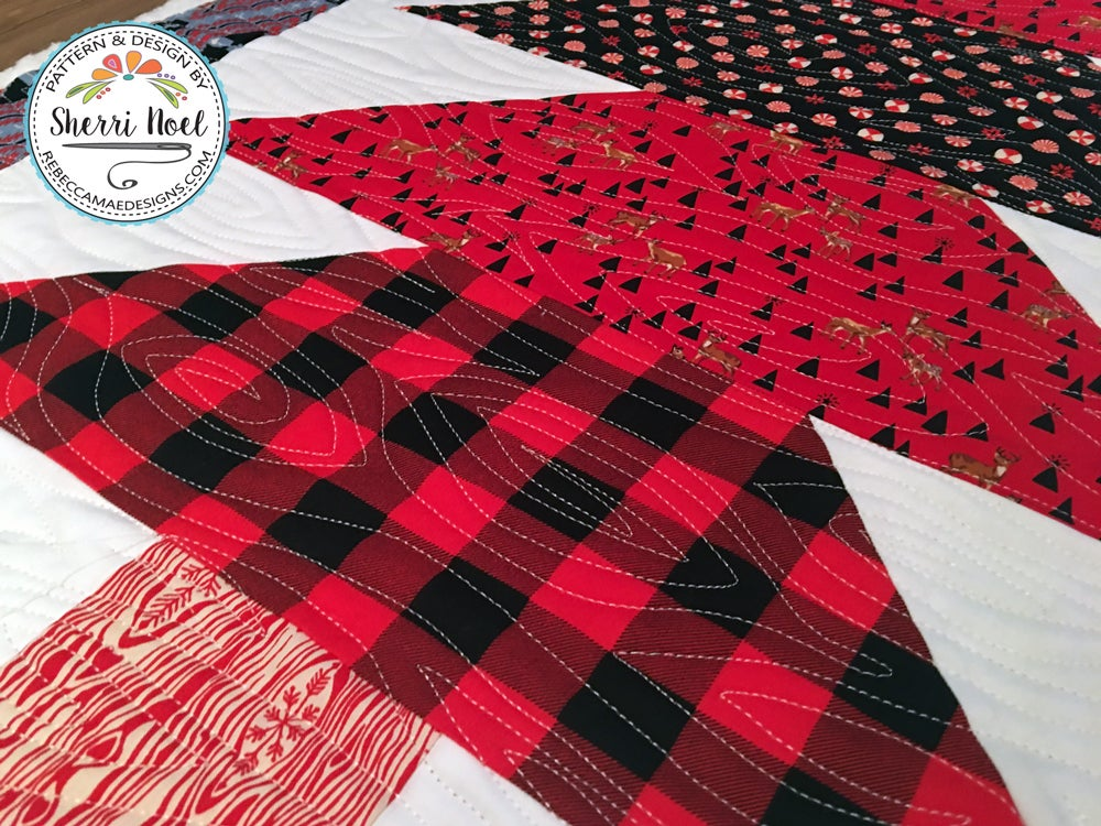 Scandinavian tomte quilt patterns by rebecca mae designs for Red door design quilts