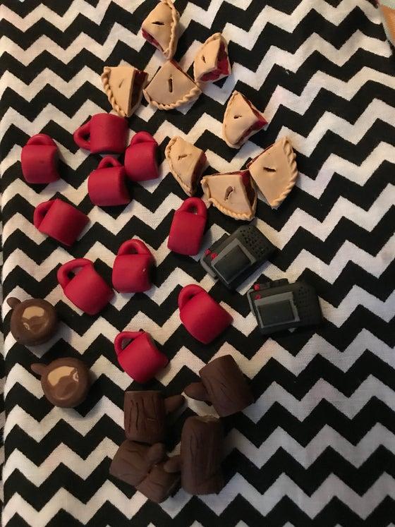 Image of Twin Peaks Earrings (Set)
