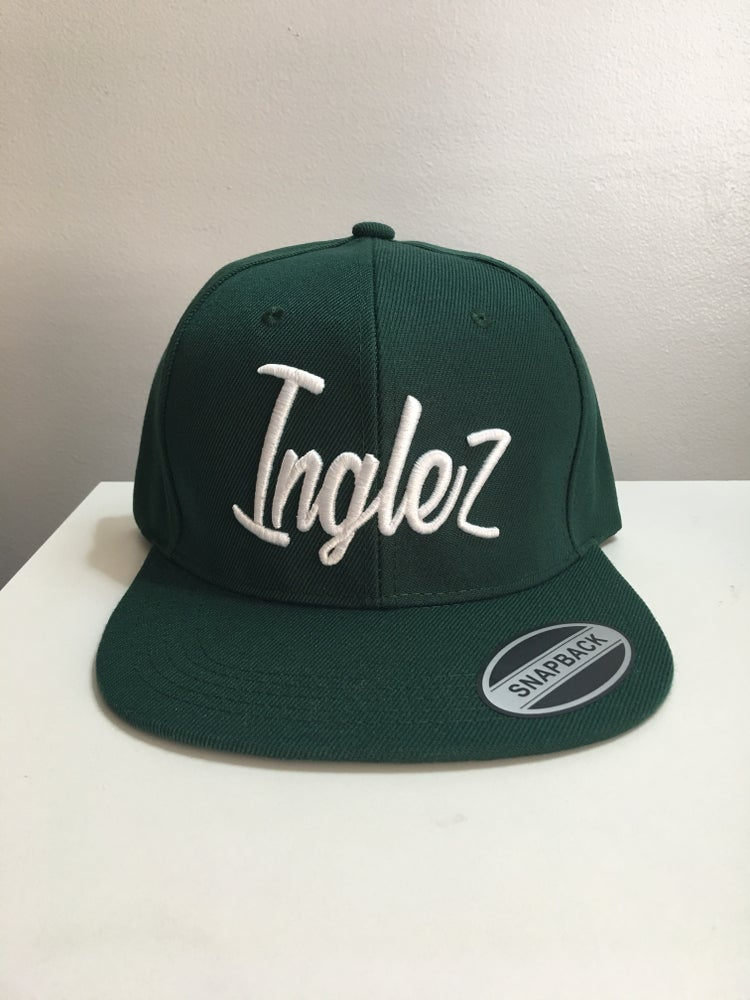 "Image of WKI ""Inglez"" Snapback Hat (Green/White)"