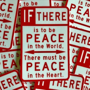 """Image of Peace Sign 2""""x3"""""""