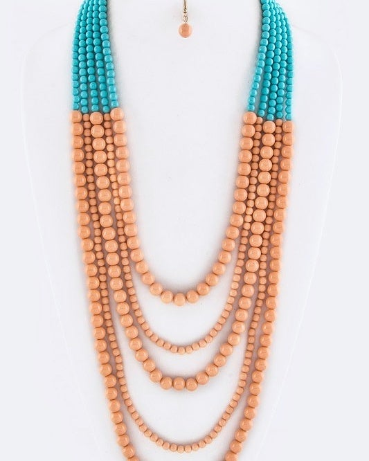 Image of Multistrand Necklace - long
