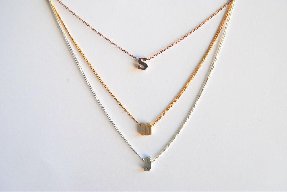 Image of Single Letter Birtstone Necklace