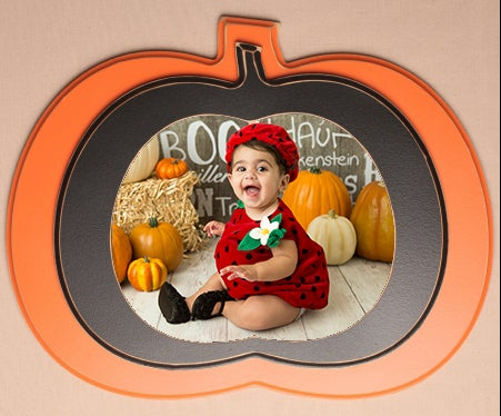 Image of 8 x 10 Seasonal Pumpkin Decor Frame