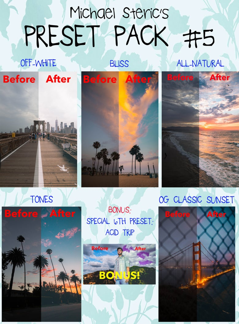 Image of MICHAEL STERIC PRESET PACK #5 - 5 PRESETS INCLUDED
