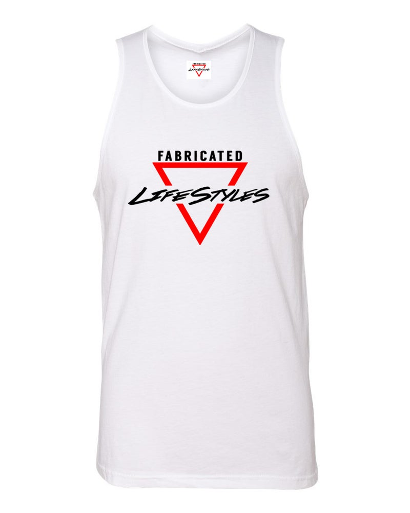 Image of Fabricated Lifestyles White Tank Top